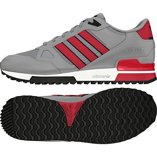 adidas Zx 750, Chaussures de Sport Mixte Adulte gris - Gris (Grpuch / Rojray / Negbas)