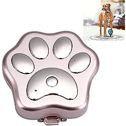 Mini perseguidor del animal doméstico del GPS Perseguidor impermeable de GPS del G / M GPRS WIFI, collar de perro de GPS del perseguidor del animal doméstico, collar de seguimiento del GPS para el perro,Gold