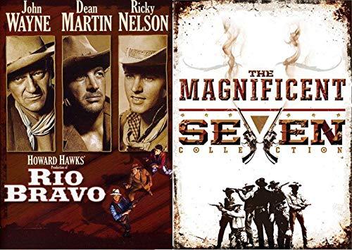 Gunmen Western 5-Movie Collection - Rio Bravo John Wayne & The Magnificent Seven Collection (4-Movie Set) 5-DVD Bundle