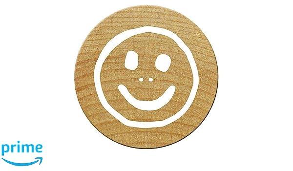 Holz Woodies Mini Facebook Daumen Stempel 15/mm braun