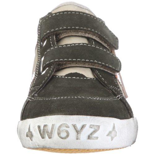Wyzz Skater Velcro 2004873 Unisex - Kinder Halbschuhe Grau, (TAUPE-ARANCIO)