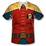 Wicked Mens BATMAN CLASSIC TV Short Sleeve ROBIN COSTUME Small T-Shirt Tee
