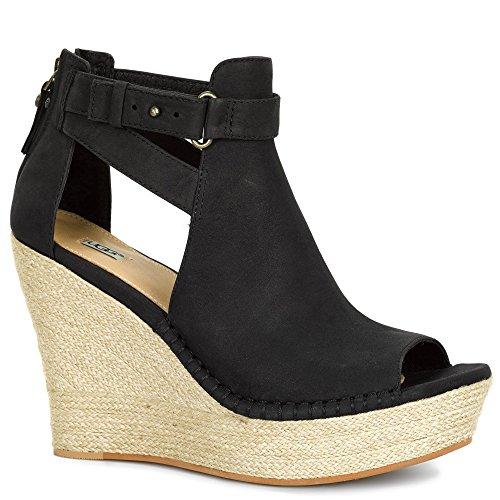 Sandale compensée UGG Jolina en nubuck noir Noir