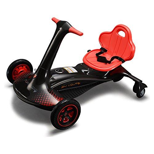 ROLLPLAY E-Rennfahrzeug mit Drift-Funktion, Für Kinder ab 8 Jahren, Bis max. 58 kg, 24-Volt-Akku, Bis zu 14 km/h, Turnado Drift Racer, Schwarz