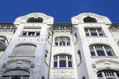 Leinwand-Bild 140 x 90 cm: 'Jugendstil-Gebäude in HH', Bild auf Leinwand