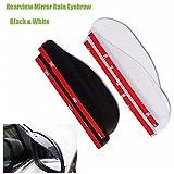 #3: Generic Black : Universal Door Side Rear View Wing Mirror Rain Visor Board Snow Guard Weather Shield Sun Shade Cover Rearview Auto Accessories