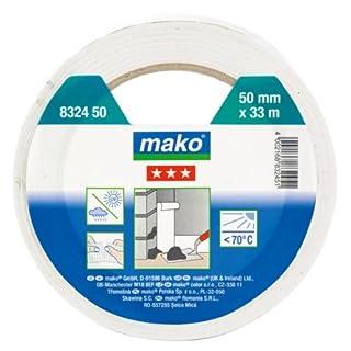 Mako Putz-Abdeckband quergerillt innen/außen 38 mmx33 m in Weiss