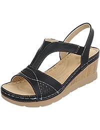 Keilsandaletten Damenschuhe Plateau Keilabsatz/ Wedge Keilabsatz Ital-Design Sandalen / Sandaletten