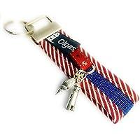 Schlüsselanhänger Sylt aus Stoff in rot - Handmade - Valentinsgeschenk - Geschenk
