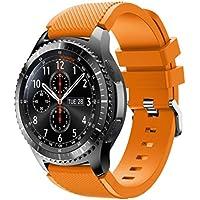 Gosuper Morbido cinturino di ricambio in silicone per lo sport Samsung Gear S3 Frontier/S3 Classic Smart Watch