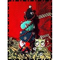 ÁRBOL NAVIDAD CON PERLAS ROJAS PAPA NOEL AMIGURUMI NAVIDAD PERSONALIZABLE (Bebé, crochet, ganchillo
