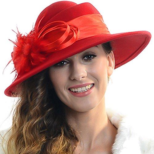 FORBUSITE - Chapeau melon - Femme taille unique red