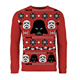 London Co. Star Wars Imperial Red Unisex Christmas Knitted Jumper Small