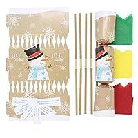 Cake Factory Christmas Crackers/Cracker Make Your Own DIY Novelty Kit (Pack of 12) 7 DESIGNS Elf Traditional Santa Reindeer Snow Man Penguin (Snowman 12)