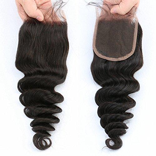 Giannay Hair 100% Virgin Brazilian Human Hair Free Way Part Loose Wave (4\