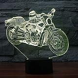 wangZJ Motorcyle Tischleuchte Touch Night Light 7 Farbwechsel Motorräder Sleeping Light Weihnachtsbeleuchtung/Remote 16 Farben