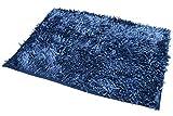 50x70 dunkelblau marineblau dark blue Badteppich Badeteppich Badematte Badematten Teppich Fußbodenbelag pflegeleicht strapazierfähig Shaggy