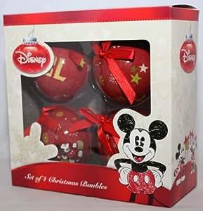 4 weihnachtskugeln christbaumkugeln disney mickey maus minnie mouse pluto 75mm - Disney weihnachtskugeln ...