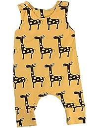 Anywow S/äugling Baby M/ädchen Obst gedruckt R/üschen Strampler selbst binden Tank Bodysuit Overall