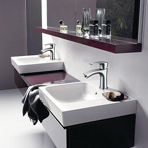 Homelody Waschtischarmatur Badarmatur Bad Mischbatterie Waschbecken Armatur Chrom Wasserhahn Waschbeckenarmatur f. Badezimmer - 5