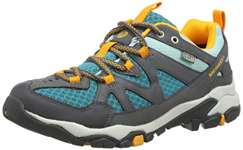 Merrell Tahr Waterproof, Women's Lace-Up Low Rise Hiking Shoes - Castle Rock/Blue,...
