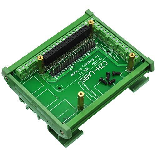CZH-LABS DIN-Schienenmontage, Schraubklemmen-Adapterplatte, für Raspberry Pi 1 A+,1 B+, 2 B, 3 B, 3 B+, 3 A+, Zero
