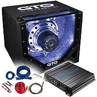 CRUNCH Basspaket 2-Kanal Endstufe/Verstärker+25cm Subwoofer+Kabel-Set - 600 Watt / GTO10-BP + GPX-500.2 + REN10KIT