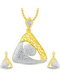 Sukkhi Enchanting Gold And Rhodium Plated Pendant Set With Chain