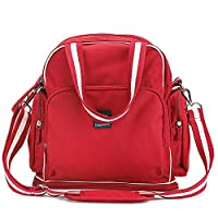 Diaper Bag Backpack for Boys Girls Baby Bags Organizer Insert Purse (Tote Handbag Backpack 3 in 1) 11 Pouch Designer for Mom Travel Essentials (Red)