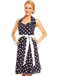 393e9caad4aa Mayaadi Kleid Ballkleid Abendkleid Partykleid Festkleid Cocktailkleid  Punktemuster HS-5101