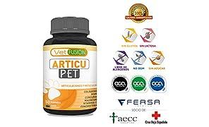 Antiinflamatorio Natural para Perros y Gatos | Colágeno + Cúrcuma + Condroitina + Magnesio + MSM + Vitamina C | Combate el dolor y la inflamación | Recupera su energía y movilidad | 50und. sin azúcar
