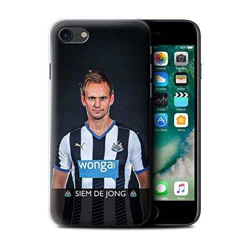 Offiziell Newcastle United FC Hülle / Case für Apple iPhone 7 / Pack 25pcs Muster / NUFC Fussballspieler 15/16 Kollektion De Jong