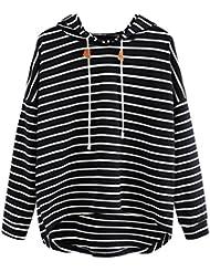 sudaderas mujer invierno 2017 abrigos de mujer otoño Switchali sudaderas mujer baratas con capucha ropa de mujer en oferta rayas abrigo casual sudadera deporte