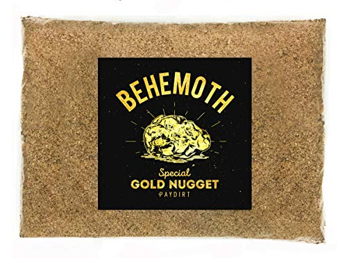 Behemoth 'Special Gold Nugget PAYDIRT' Gold Panning Pay Dirt Bag - Gold Prospecting Concentrate