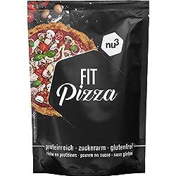nu3 - Fit Pizza 270g - Préparation De Pates À Pizza Croquante Et Délicieuses Riche En Protéines Pauvre En Sucres Sans Gluten - Idéal Pour Un Régime Vegan et Low Carb