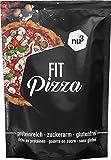 nu3 Fit Pizza baja en carbohidratos | 270g de harina para pizza proteica sin levadura | 100% pizza vegana y libre de gluten | 15g de proteína por porción | Ideal durante dietas low carb