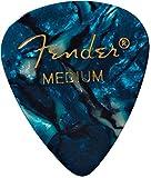 Fender 351Shape Classic Medium Celluloid Picks, 12pezzi, oceano turchese per chitarra elettrica, chitarra, mandolino, acustica e basso