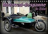 Motorrad-Gespanne in Kuba (Tischkalender 2020 DIN A5 quer): Motorrad-Oldtimer mit Beiwagen in Kuba...