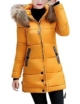 Donne Donna Slim Incappucciato Lungo Imbottito Inverno Caldo Parka Outwear Giacca Acetato In Fibra Cappotto Cinque...