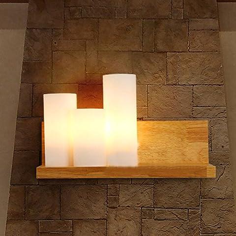 American Industrial pueblo de estilo retro de madera lámpara de pared de estilo europeo antiguo Café nórdicos lámpara de pared lámpara de pared minimalista moderno loft dormitorio pared del corredor de industrias creativas