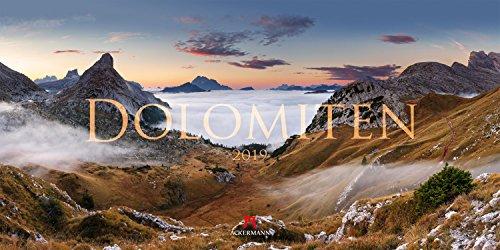 Dolomiten 2019, Wandkalender / Panoramakalender im Querformat (66x33 cm) - Landschaftskalender / Naturkalender mit Monatskalendarium