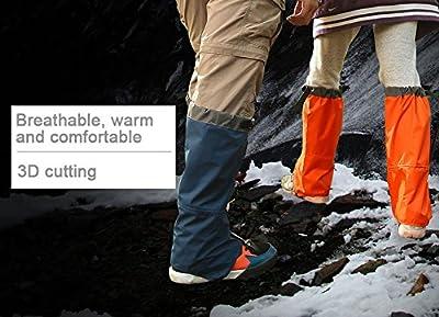 Uleade Outdoor gamaschen wasserdichte Gamaschen Gaiter für Outdoor-Hosen zum Wandern, Klettern und Schneewandern wandernde gehende kletternde Jagd-Schnee Legging Gamaschen 1 Paar von Uleade bei Outdoor Shop