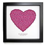 Not Just A Print ed Sheeran, perfetto, a forma di cuore romantica cornice stampa personalizzata in una cornice 23x 23cm in scatola