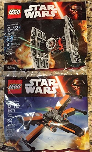 THE FORCE AWAKENS 30278 POE'S X-WING + 30276 TIE FIGHTER by LEGO ()