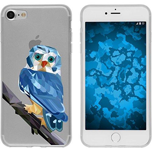 PhoneNatic Case für Apple iPhone 8 Silikon-Hülle Vektor Tiere M4 Case iPhone 8 Tasche + 2 Schutzfolien Design:01
