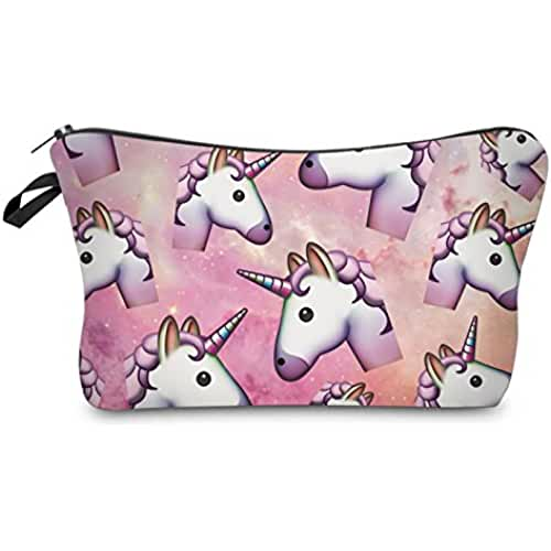 maquillaje unicornio kawaii Unicornio bolsa de maquillaje cosméticos caso bolsa de aseo