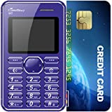 GreenBerry M2 1.77 Inch QQVGA Color Display Keypad Ultra Slim Ultra Slim Credit Card Size Light Weight Light Weight MP3 Player -Camera Mobile Phone (Blue) (Only Mobile Phone & Charging Cable In Box, NO CHARGER OR EARPHONE)