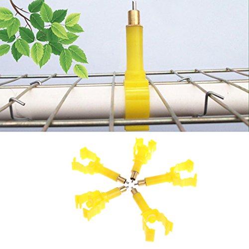 Fogun Haustier Wasser Spender, 5 Stück Automatische Trinker Nippel Trinken Schraube in Typ für Geflügel Huhn Kaninchen