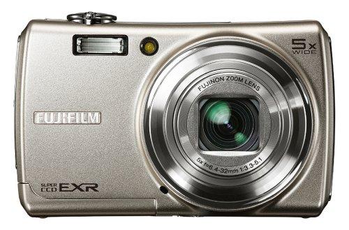 Fujifilm FinePix F200EXR Digitalkamera (12 Megapixel, 5fach opt. Zoom, 3'' Display, Bildstabilisator) silber