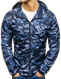Kapuzenjacke Herrenjacke Sweatjacke Parka Mit Kapuze Hoodies Outdoor Coat Strickjacke Täglichen Mäntel Outwear Herbst Winter, Reißverschluss Camouflage Slim Pocket Fit